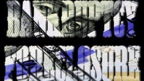 Αποκλεισμός πτώχευσης - τραπεζική έννοια επένδυσης διανυσματική απεικόνιση