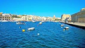 Απολαύστε τη μαρίνα Kalkara με τις μικρές βάρκες, Μάλτα φιλμ μικρού μήκους