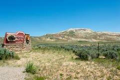 Απολιθωμένο εθνικό μνημείο λόφων στοκ εικόνα