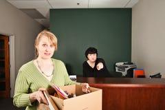 Απολυθείς εργαζόμενος στοκ εικόνες