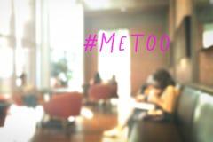 Απομίμηση hashtag στο αφηρημένο κοινοτικό υπόβαθρο καφετεριών θαμπάδων Στοκ φωτογραφίες με δικαίωμα ελεύθερης χρήσης