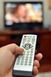 απομακρυσμένη TV ελέγχου Στοκ Φωτογραφία