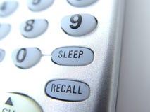απομακρυσμένος ύπνος κουμπιών Στοκ Φωτογραφίες
