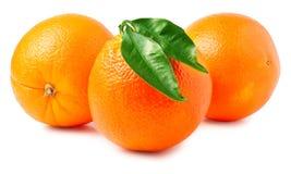 απομονωμένα ανασκόπηση πορτοκάλια τρία αντικειμένου λευκό Στοκ εικόνες με δικαίωμα ελεύθερης χρήσης