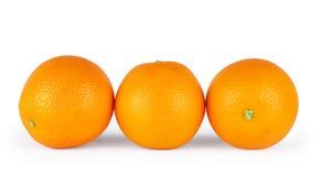 απομονωμένα ανασκόπηση πορτοκάλια τρία αντικειμένου λευκό Στοκ φωτογραφίες με δικαίωμα ελεύθερης χρήσης