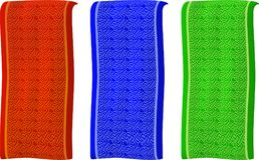 Απομονωμένα διαφορετικά χρωματισμένα εμβλήματα με το σχέδιο Στοκ Εικόνες