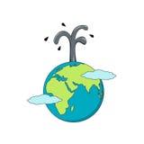Απομονωμένα κινούμενα σχέδια η επιχείρηση γης και πετρελαίου διανυσματική απεικόνιση