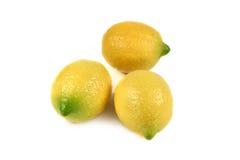 απομονωμένα λεμόνια Στοκ εικόνα με δικαίωμα ελεύθερης χρήσης