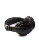 Απομονωμένα μαύρα ακουστικά Στοκ Εικόνα