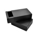 Απομονωμένα μαύρα κουτιά Στοκ εικόνα με δικαίωμα ελεύθερης χρήσης