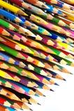 Απομονωμένα μολύβια αντικείμενα χρώματος στοκ εικόνα με δικαίωμα ελεύθερης χρήσης