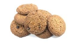 Απομονωμένα μπισκότα με το άσπρο υπόβαθρο Στοκ Φωτογραφίες