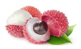 Απομονωμένα ξεφλουδισμένα φρούτα lychee στοκ εικόνες