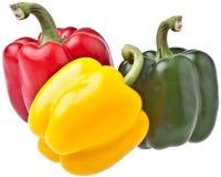 απομονωμένα πιπέρια τρία Στοκ φωτογραφία με δικαίωμα ελεύθερης χρήσης