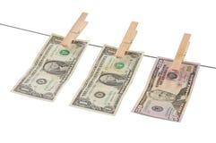 απομονωμένα πλένοντας χρήμ&al Στοκ Εικόνα