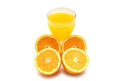 απομονωμένα πορτοκάλια χυμού Στοκ φωτογραφίες με δικαίωμα ελεύθερης χρήσης