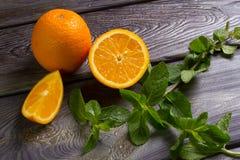 απομονωμένα πορτοκάλια μεντών πέρα από το λευκό Στοκ φωτογραφία με δικαίωμα ελεύθερης χρήσης