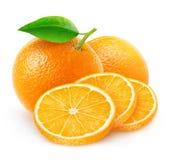 Απομονωμένα πορτοκάλια περικοπών Στοκ φωτογραφίες με δικαίωμα ελεύθερης χρήσης