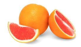 Απομονωμένα πορτοκάλια φρούτων σε ένα άσπρο υπόβαθρο Στοκ Εικόνες