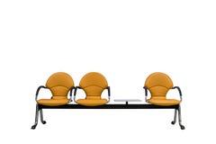 Απομονωμένα πορτοκαλιά σύγχρονα καθίσματα στο λευκό Στοκ εικόνα με δικαίωμα ελεύθερης χρήσης