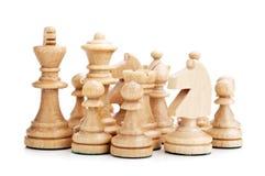 απομονωμένα σκάκι κομμάτια στοκ εικόνες