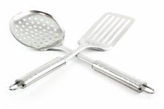 απομονωμένα τρυπητό spatula κου& Στοκ φωτογραφία με δικαίωμα ελεύθερης χρήσης