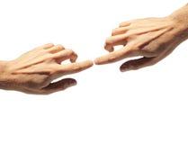 Απομονωμένα χέρια Στοκ Φωτογραφίες