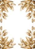 Απομονωμένα χρυσά φύλλα Στοκ εικόνα με δικαίωμα ελεύθερης χρήσης