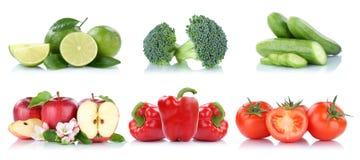 Απομονωμένα χρώματα ντοματών μήλων φρούτων και λαχανικών συλλογή Στοκ Εικόνα