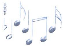 απομονωμένα χρώμιο καθορισμένα σύμβολα σημειώσεων μετάλλων μουσικά διανυσματική απεικόνιση