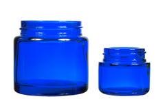 απομονωμένα creme βάζα δύο ανα&sigma Στοκ Εικόνες