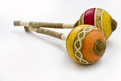 απομονωμένα maracas Στοκ Εικόνα