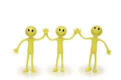 απομονωμένα smilies τρία Στοκ εικόνες με δικαίωμα ελεύθερης χρήσης