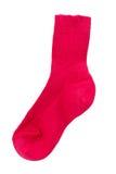 απομονωμένες βαμβάκι κόκκινες κάλτσες κατσικιών στοκ φωτογραφίες με δικαίωμα ελεύθερης χρήσης