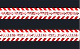 Απομονωμένες γραμμές μόνωσης Ρεαλιστικές ταινίες προειδοποίησης Σημάδια του κινδύνου Διανυσματική απεικόνιση, που απομονώνεται σε διανυσματική απεικόνιση