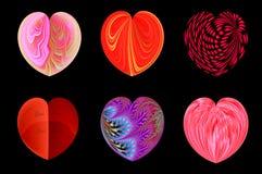 Απομονωμένες καρδιές για το σχέδιό σας. σύνολο 1. απεικόνιση αποθεμάτων