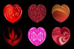 Απομονωμένες καρδιές για το σχέδιό σας. σύνολο 2. διανυσματική απεικόνιση