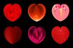 Απομονωμένες καρδιές για το σχέδιό σας. σύνολο 4. διανυσματική απεικόνιση