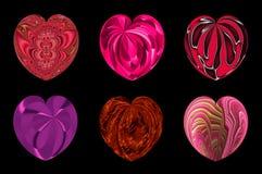 Απομονωμένες καρδιές για το σχέδιό σας. σύνολο 5. ελεύθερη απεικόνιση δικαιώματος