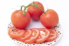 Απομονωμένες ντομάτες Στοκ εικόνες με δικαίωμα ελεύθερης χρήσης