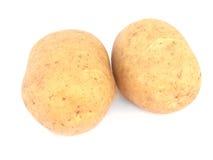 απομονωμένες πατάτες δύο Στοκ φωτογραφίες με δικαίωμα ελεύθερης χρήσης