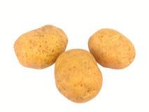 απομονωμένες πατάτες τρία Στοκ φωτογραφίες με δικαίωμα ελεύθερης χρήσης