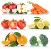 Απομονωμένες πορτοκαλιές ντομάτες μήλων φρούτων και λαχανικών συλλογή Στοκ φωτογραφία με δικαίωμα ελεύθερης χρήσης