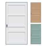 Απομονωμένες πόρτες - διανυσματική απεικόνιση Στοκ εικόνα με δικαίωμα ελεύθερης χρήσης