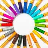 απομονωμένες χρώμα πέννες Στοκ φωτογραφίες με δικαίωμα ελεύθερης χρήσης