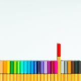απομονωμένες χρώμα πέννες Στοκ εικόνες με δικαίωμα ελεύθερης χρήσης