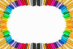 απομονωμένες χρώμα πέννες Στοκ φωτογραφία με δικαίωμα ελεύθερης χρήσης