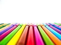 απομονωμένες χρώμα πέννες Στοκ εικόνα με δικαίωμα ελεύθερης χρήσης