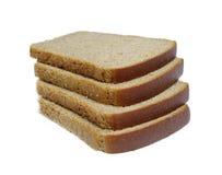 απομονωμένες ψωμί φέτες Στοκ φωτογραφίες με δικαίωμα ελεύθερης χρήσης