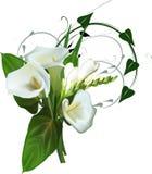 Απομονωμένη άσπρη δέσμη λουλουδιών Στοκ φωτογραφίες με δικαίωμα ελεύθερης χρήσης